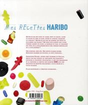 Mes recettes haribo - 4ème de couverture - Format classique