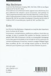 Ecrits - 4ème de couverture - Format classique