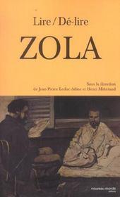 Lire De-Lire Zola - Intérieur - Format classique