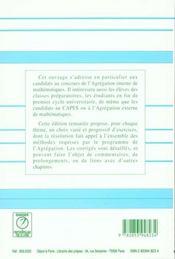 Mathematiques Generales Agregation 2ed - 4ème de couverture - Format classique