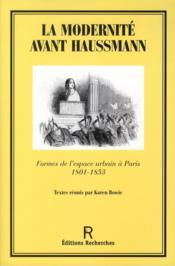 La Modernite Avant Haussmann - Couverture - Format classique