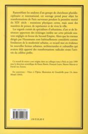 La Modernite Avant Haussmann - 4ème de couverture - Format classique