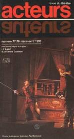 Acteurs no 77-78 mars avril 1990 - revue du theatre - Couverture - Format classique