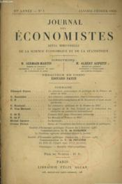 Journal Des Economistes - Revue Bimestrielle De La Science Economique Et De La Statistique N°1 97e Annee - Couverture - Format classique