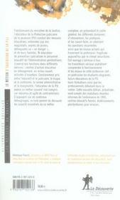 Le métier d'éducateur de la PJJ - 4ème de couverture - Format classique