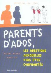 Parents d'ados. les questions auxquelles vous etes confrontes - Intérieur - Format classique