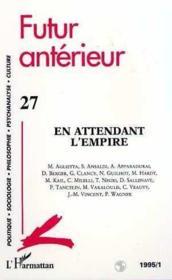 Futur Anterieur N°27 - Couverture - Format classique