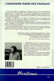 L'Imaginaire Marin Des Francais ; Mythe Et Geographie De La Mer - 4ème de couverture - Format classique