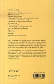 Tombes de verre et autres poèmes - 4ème de couverture - Format classique
