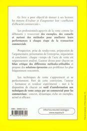 Je Vends Avec Succès. Prospection, Présentation, Négociation, Argumentation, Conclusion De La Vente - 4ème de couverture - Format classique