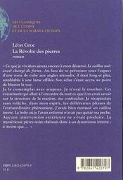 La Revolte Des Pierres - 4ème de couverture - Format classique