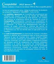 Comptabilite Dpecf 4 - 4ème de couverture - Format classique