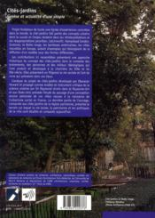 Cites-Jardins - 4ème de couverture - Format classique