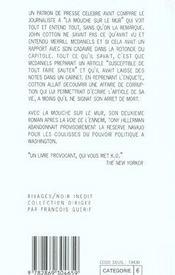 La Mouche Sur Le Mur - 4ème de couverture - Format classique