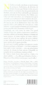 Fleurs D'Oliviers - 4ème de couverture - Format classique