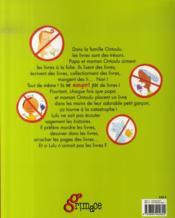 Les ontoulu ne mangent pas les livres - 4ème de couverture - Format classique