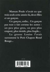 Le petit chapon rond rouge - 4ème de couverture - Format classique