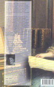 Les carnets secrets de Marie Antoinette - 4ème de couverture - Format classique