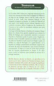 Trafalgar. Strategie Navale De Napoleon - 4ème de couverture - Format classique