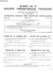 Bulletin De La Societe Prehistorique Francaise - Comptes Rendus Des Seances Mensuelles - Annee 1971 - Tome 68 - N°5 - Couverture - Format classique