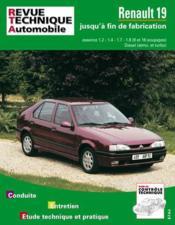 Rta 700.3 Renault 19 Essence Et Diesel - Couverture - Format classique