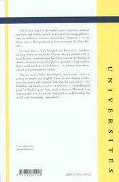 Perspectives On The Making Of America An Introduction To U.S.Civilisation - 4ème de couverture - Format classique