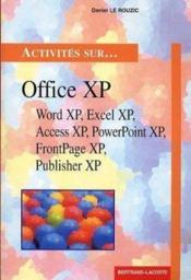 Activites sur office xp - Couverture - Format classique