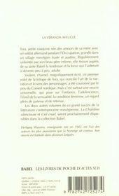 La Veranda Aveugle - 4ème de couverture - Format classique