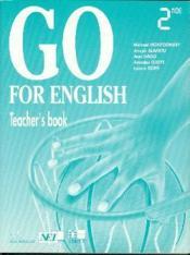 Go for english 2nde / livre du professeur (afrique de l'ouest) - Couverture - Format classique