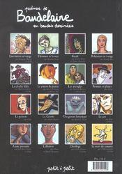 Poèmes de Baudelaire en bandes dessinées - 4ème de couverture - Format classique