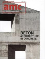 Vente  AMC béton ; beton architecture in concrete  - Collectif