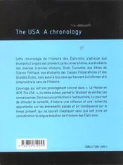 The Usa A Chronology - 4ème de couverture - Format classique