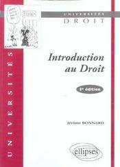 Introduction au droit 3e edition - Intérieur - Format classique