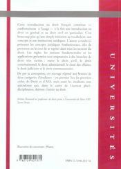 Introduction au droit 3e edition - 4ème de couverture - Format classique