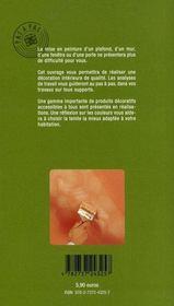 Peintures intérieures - 4ème de couverture - Format classique
