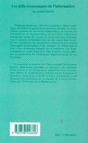 Les Defis Economiques De L'Information : La Numerisation - 4ème de couverture - Format classique