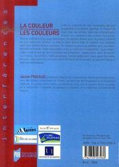 La couleur les couleurs ; xi entretiens de la garenne-lemot - 4ème de couverture - Format classique