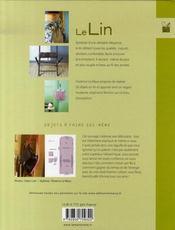 Le lin ; accessoires, déco, vêtements - 4ème de couverture - Format classique