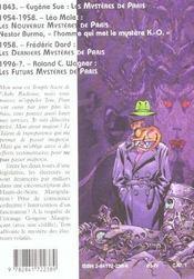 Les futurs mystères de Paris t.8 ; Kali Yuga - 4ème de couverture - Format classique