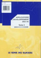 Applications de développement des UC t.2 - Couverture - Format classique