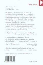 Le sicilien - 4ème de couverture - Format classique
