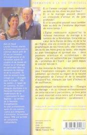 Mariage, Mystere Trinitaire : Beaute, Vocation Et Saintete De L'Amour Conjugal - 4ème de couverture - Format classique