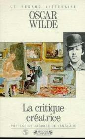 La Critique Creatrice - Couverture - Format classique