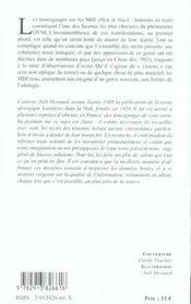 Men In Black - L'Etrange Affaire Des Hommes En Noir Et Des Ovnis - 4ème de couverture - Format classique