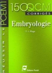 Embryologie Reussir Le Pcem1 - Couverture - Format classique