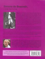 Simone de Beauvoir, cote femme - 4ème de couverture - Format classique