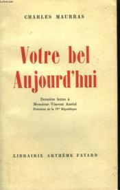 Votre Bel Aujourd'Hui. - Couverture - Format classique