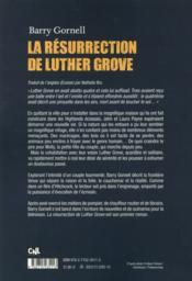 La résurrection de Luther Grove - 4ème de couverture - Format classique