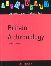 Britain A Chronology - Intérieur - Format classique