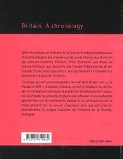 Britain A Chronology - 4ème de couverture - Format classique